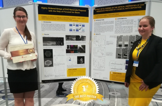 Hana Faitová winner of the best poster competition at NANOCON